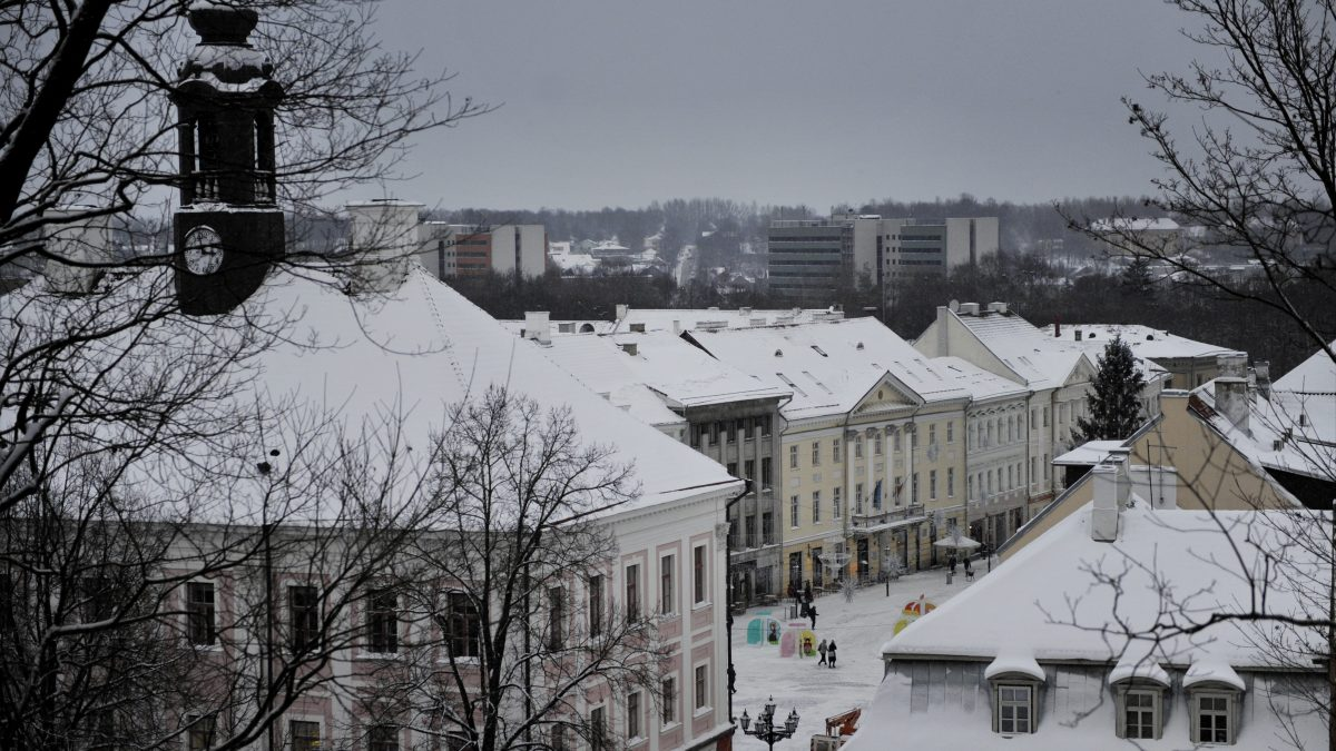 View of the Town Hall in Tartu. LEHTIKUVA / TIMO JAAKONAHO