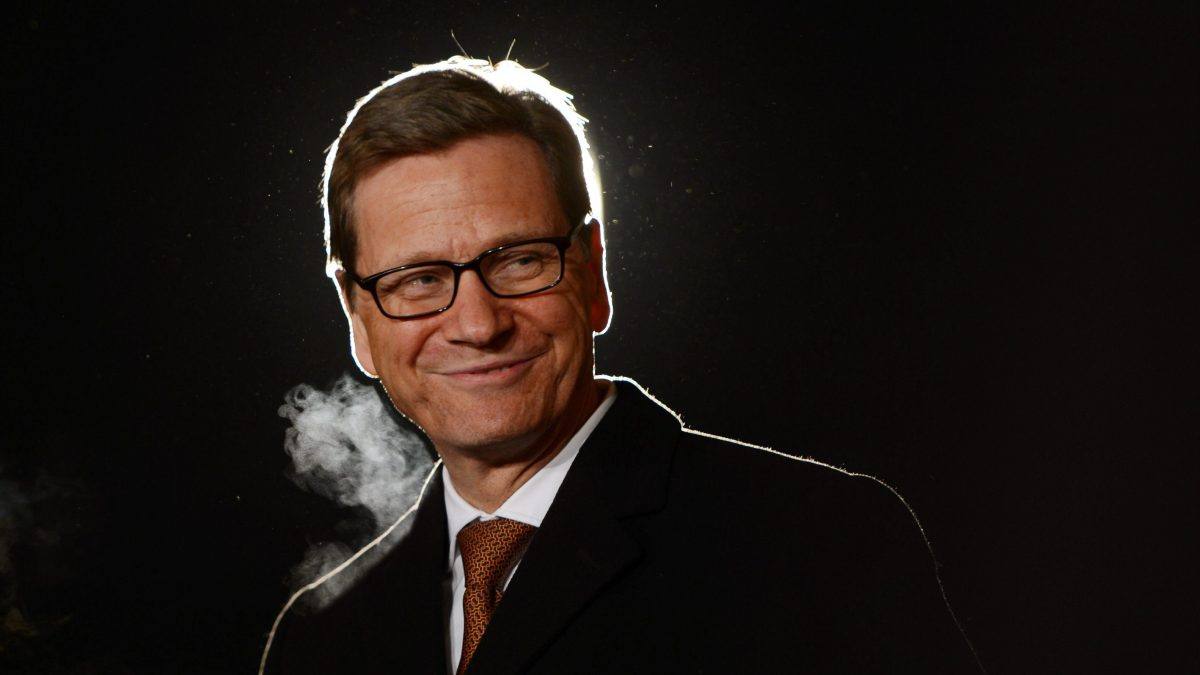 LKS 20160318 EIS0175; Guido Westerwelle died on March 18, 2016, aged 54, after a long battle with leukaemia, his charity foundation said. - LEHTIKUVA / AFP Johannes Eisele