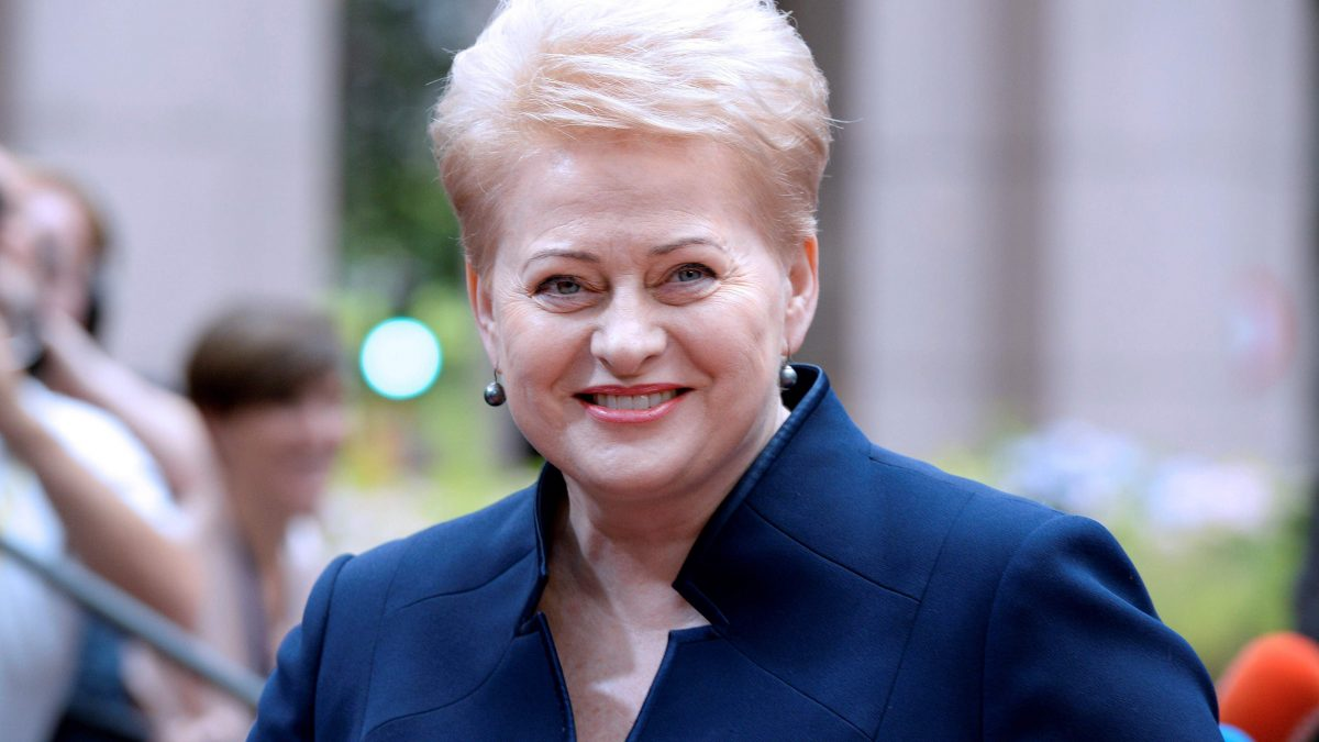 LKS 20161018 Lithuania's President Dalia Grybauskaite arrives before an EU summit meeting on June 28, 2016 at the European Union headquarters in Brussels. / AFP / THIERRY CHARLIER - LEHTIKUVA / AFP