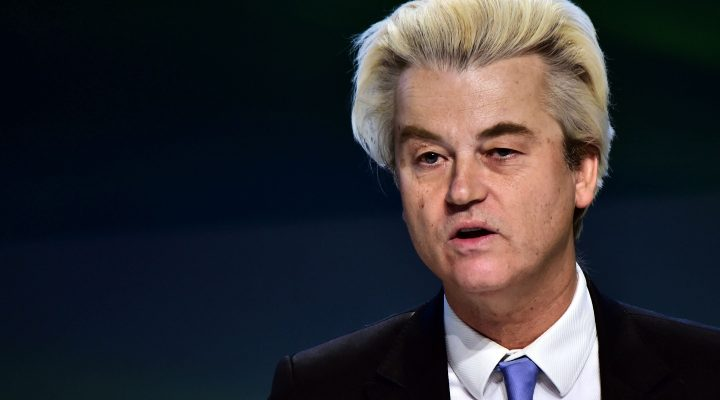 "LKS 20161209 CAC3112; (FILES) This file photo taken on January 29, 2016 shows Dutch far-right Freedom Party leader Geert Wilders speaking during a press conference at the end of the first ENF (Europe of Nations and Freedom) congress in Milan. Dutch anti-Islam MP Geert Wilders will appeal his conviction for discriminating against Moroccans as he believes the verdict is a ""big loss for freedom of speech"", his lawyer said on December 9, 2016. ""Mr Wilders has indicated to us that he will appeal the conviction,"" lawyer Geert-Jan Knoops said in a statement. LEHTIKUVA / AFP PHOTO Giuseppe Cacace"